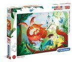 Puzzle 180 The Dragon and the Knight Clementoni