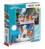 Puzzle 2x20 Disney Animals 24764 Clementoni