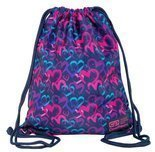 Worek sportowy CoolPack SOLO Drawing Hearts Blue