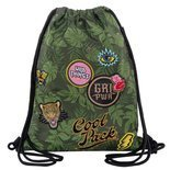Worek sportowy CoolPack Sprint Badges Girls Green