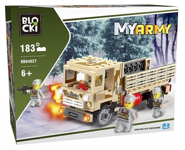 Klocki Blocki Wojsko 183 Ciężarówka Wojskowa Mazak Marek Zaremba